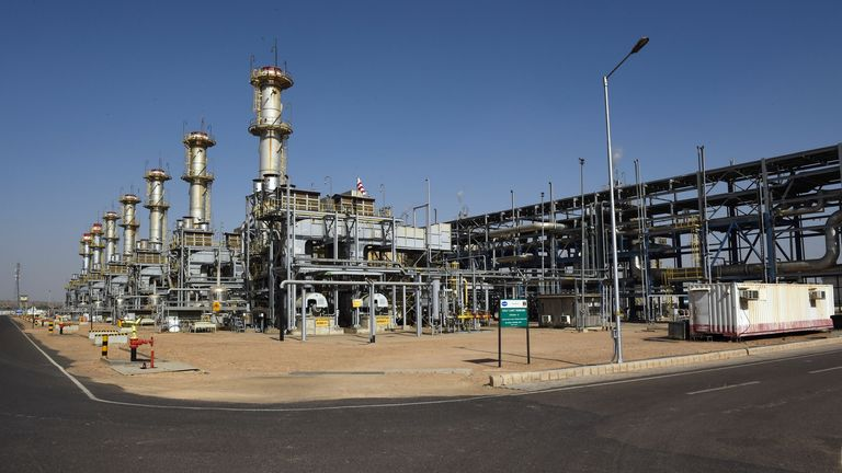 general view of the Cairn India, Oil and Gas exploration plant at Barmer in Rajasthan.
