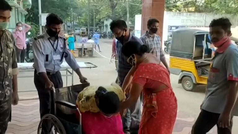 People are being admitted to hospital in southern India