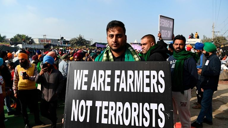 The farmers are backed by all of India's major opposition political parties