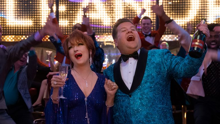 Meryl Streep and James Corden in The Prom. Pic: Netflix