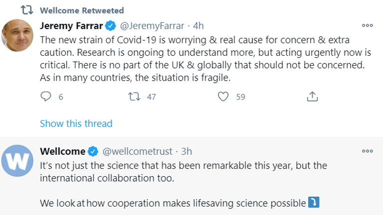 Jeremy Farrer, chairman of the Welcome Trust, warns of a new COVID-19 mutation & # 39;  This is a real cause for concern & # 39;