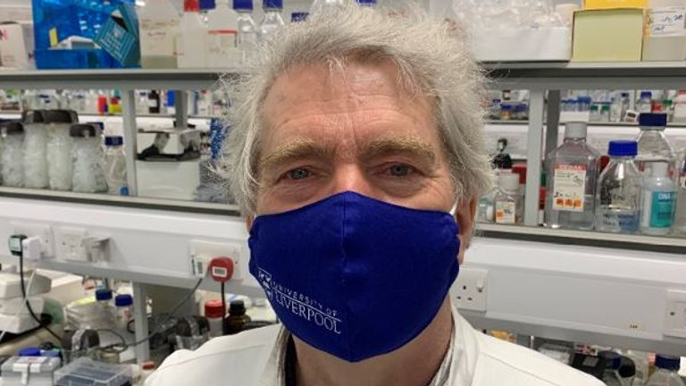 Professor Jim Gallagher at Liverpool University