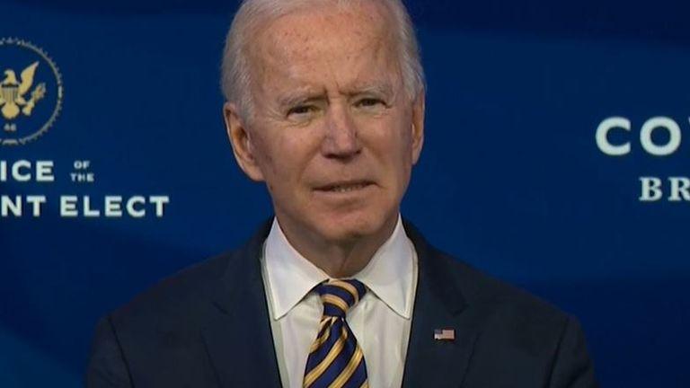 Joe Biden urges the American people to wear a mask