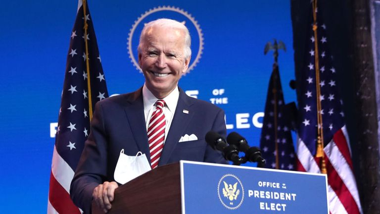 Joe Biden will become the 46th president of the United States in January