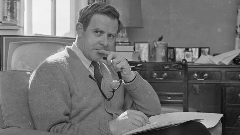 English writer and spy novelist John Le Carre in 1965