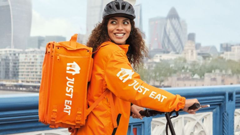 A Just Eat courier