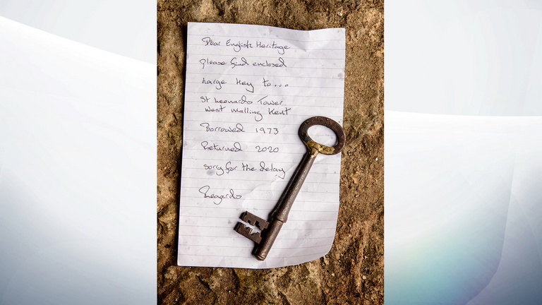 The key was returned with a letter