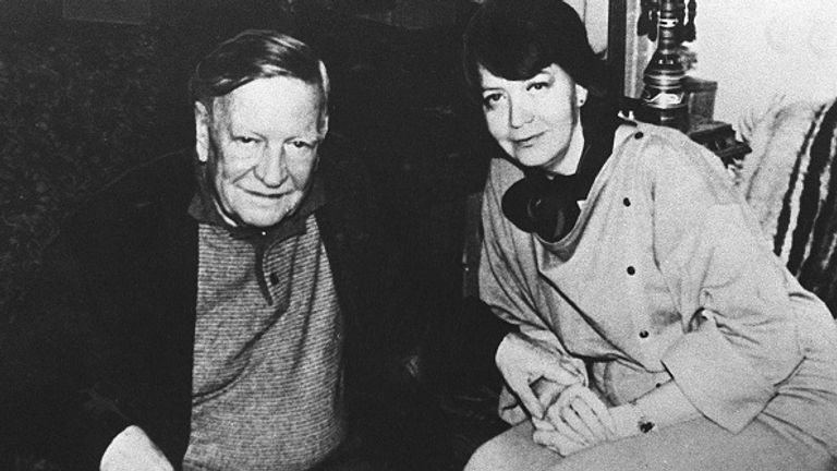 Philby in Moscow in the 1980s with wife Rufina Pukhova