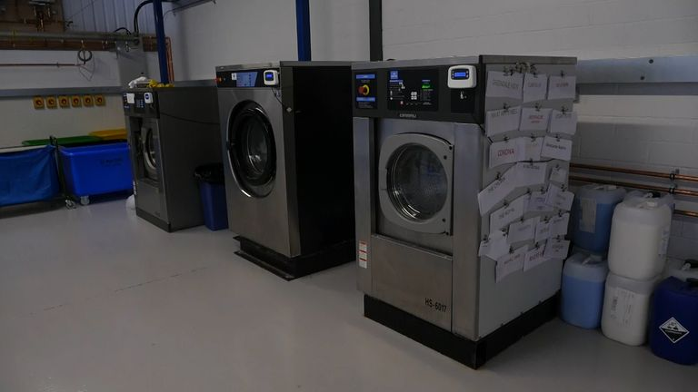 Joseph's laundry business has been unused for months