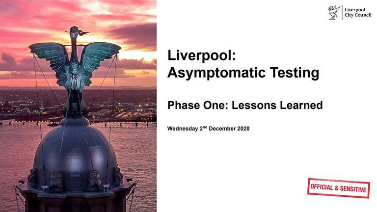 The report into Liverpool's coronavirus testing scheme