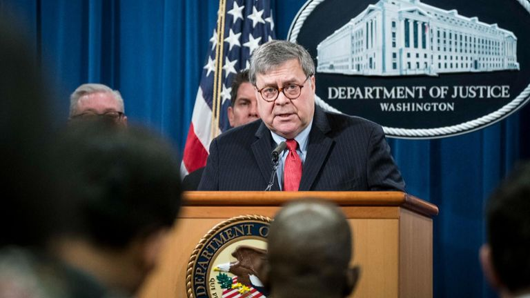 US Attorney General Bill Barr held the same post at the time of the attack