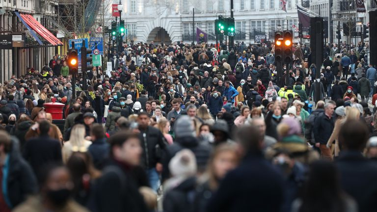 People flooded Regent Street on Saturday