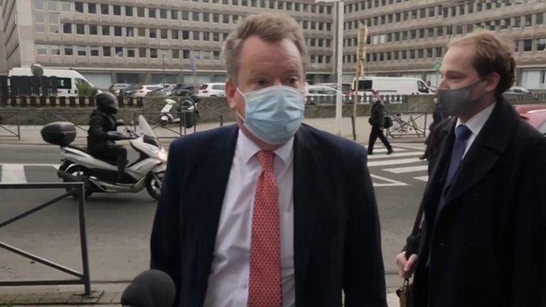 Lord Frost tiba di Brussel untuk melanjutkan pembicaraan perdagangan