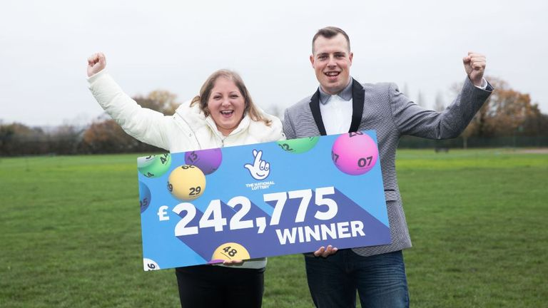 Samantha Morton won around a quarter of a million pounds on the lottery