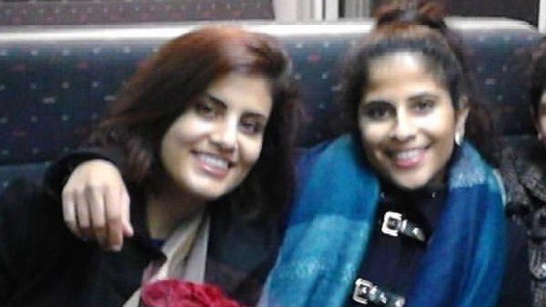 Loujain al-Hathloul (L) and her sister Lina al-Hathloul