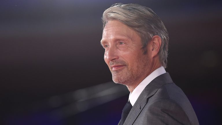 "Mads Mikkelsen attends the red carpet of the movie ""Druk"" during the 15th Rome Film Festival on October 20, 2020 in Rome, Italy"