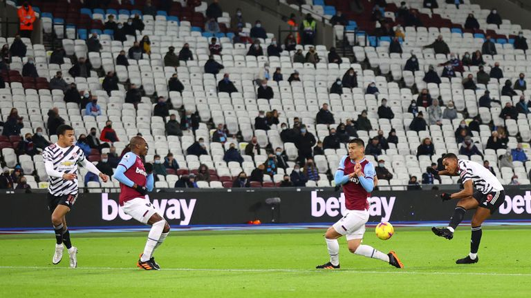 West Ham have been able to allow 2,000 supporters into their stadium