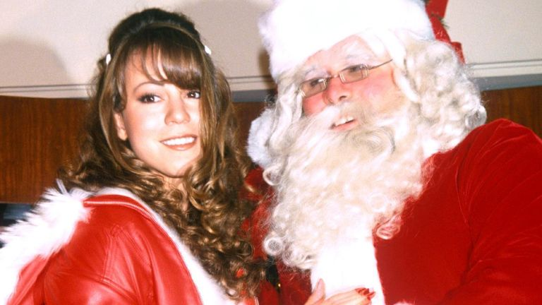Mariah Carey launches her Christmas album in 1994