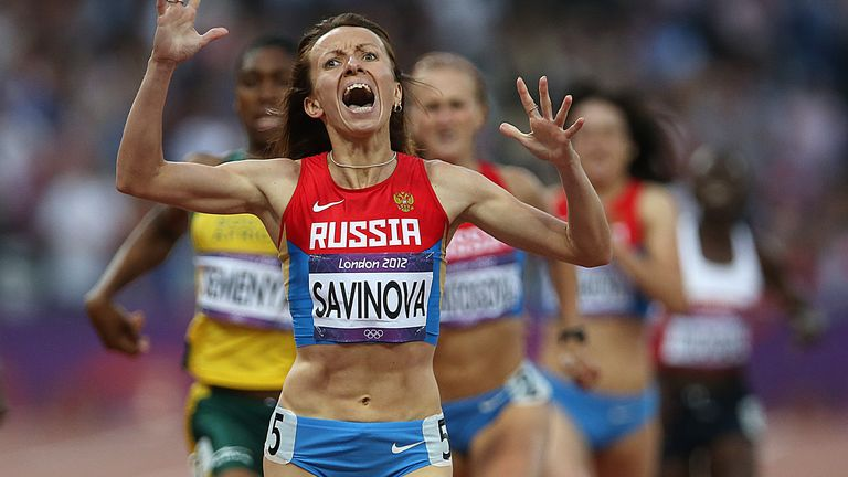 Mariya Savinova was stripped of her 800m title after being found guilty of doping