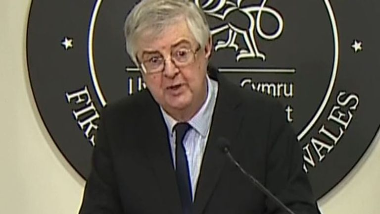 Mark Drakeford says that only two households should come together over Christmas in Wales