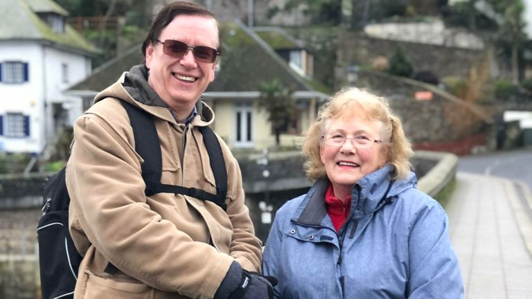 Maureen and Hugh Rogers are concerned about people visiting Tier 1 county Cornwall