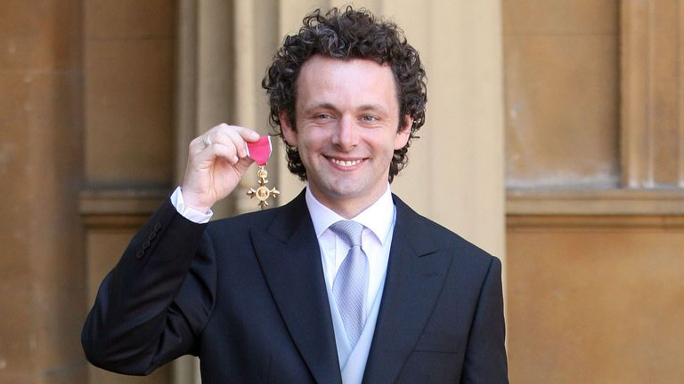 Actor Michael Sheen after receiving an OBE at Buckingham Palace in 2009