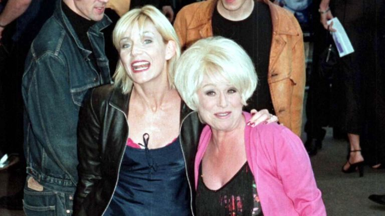 Co-star Michelle Collins with Barbara Windsor - pic: Photo News Service / Shutterstock