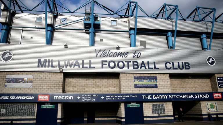 LONDON, ENGLAND - MARCH 13: General view outside the Den, the stadium of Millwall FC, as all Football league matches are postponed until April 3rd due to the Coronavirus Covid-19 pandemic at The Den on March 13, 2020 in London, England. (Photo by James Chance/Getty Images)