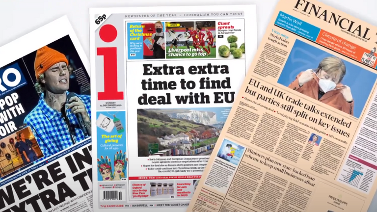 Monday's newspapers