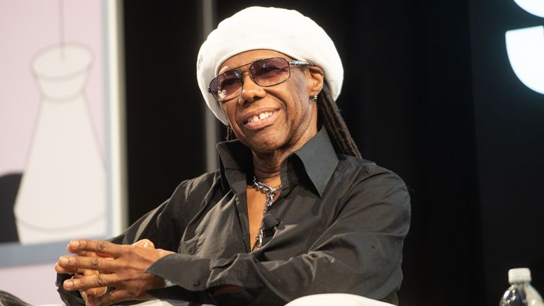 Nile Rodgers speaks onstage during the Featured Session: Nile Rodgers & Merck Mercuriadis - 2019 SXSW Conference and Festivals at Austin Convention Center on March 14, 2019 in Austin, Texas