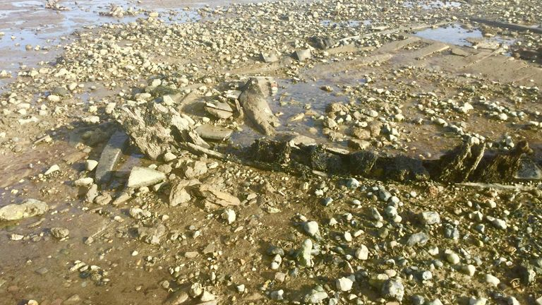 The Old Brig wreck is located by Seasalter in Kent