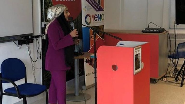 Oldham's Youth Mayor Samah Khalik