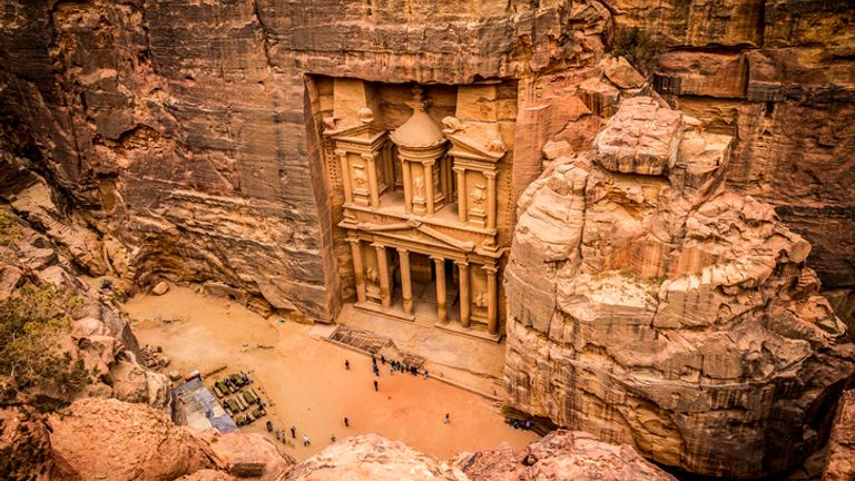 The third Indiana Jones film features famous scenes at The Treasury in Petra