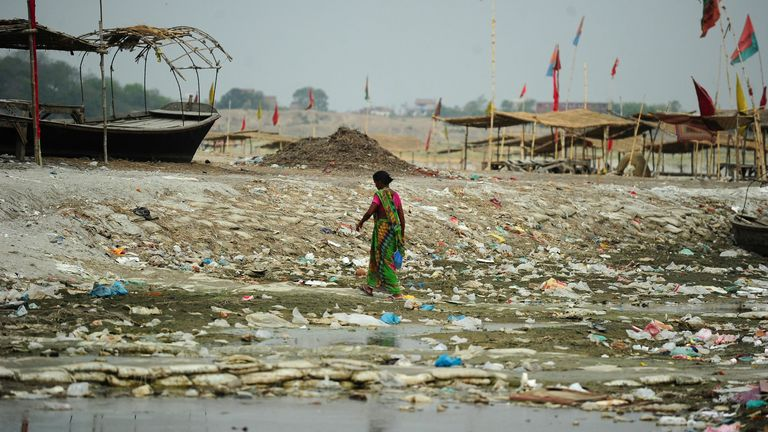 River Ganges already has a plastic pollution problem.Credit: Sanjay Kanojia / AFP