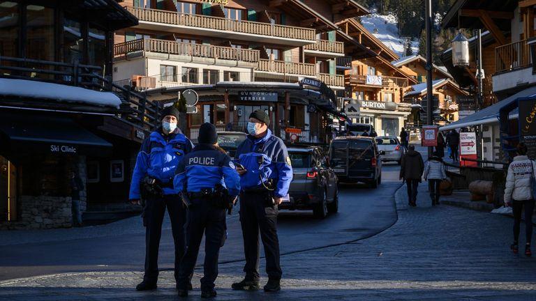 Police in Verbier