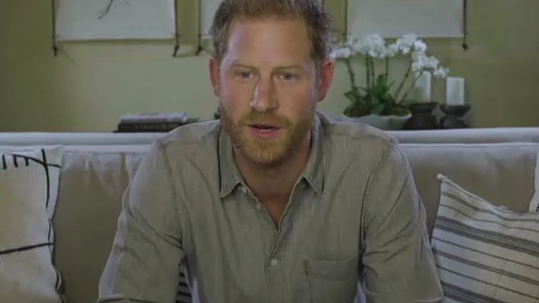 The Duke of Sussex said 'we take so much from nature, but we will rarely give anything back'