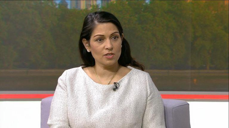 Home Secretary Priti Patel on Sky News