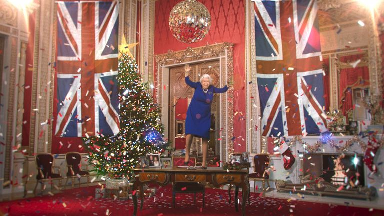 """Channel 4 of digitally created """"deepfake"""" version of Queen Elizabeth II, played by actress Debra Stephenson, which will be used to deliver the alternative Christmas message. Pic: Channel 4"""