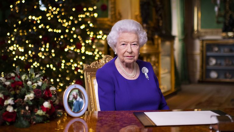The Queen broadcasts her Christmas message.