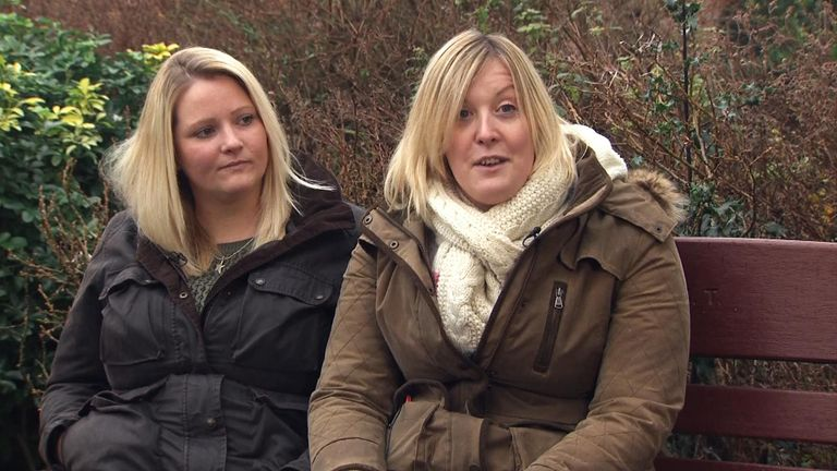 Rachel, left, and Catherine, right, said the pandemic gave them more time to think about adoption