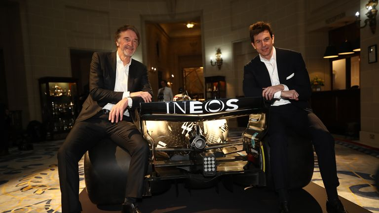 Sir Jim Ratcliffe (left), pictured with and Toto Wolff, is one of the UK's richest people