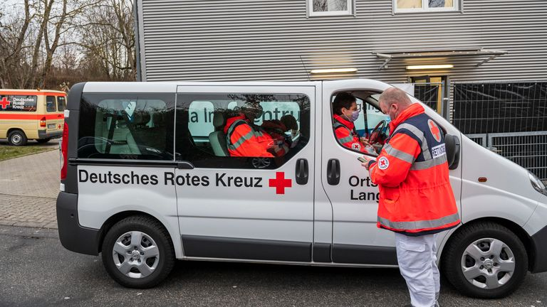Germany is distributing the vaccine to old people's homes