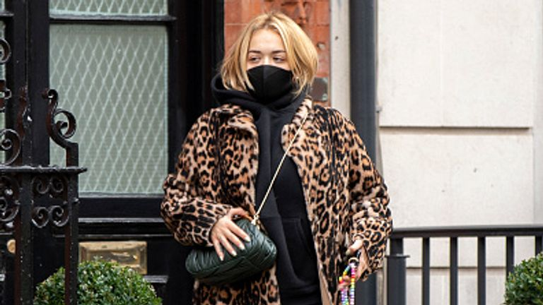 Ora is pictured wearing a mask in London three days before she travelled to Egypt
