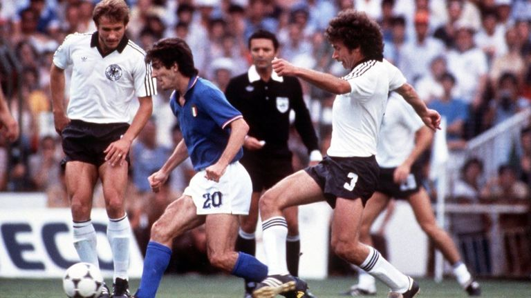 Rossi helped Italy win 3-1 in the 1982 World Cup final Pic: Tony Duffy/ALLSPORT