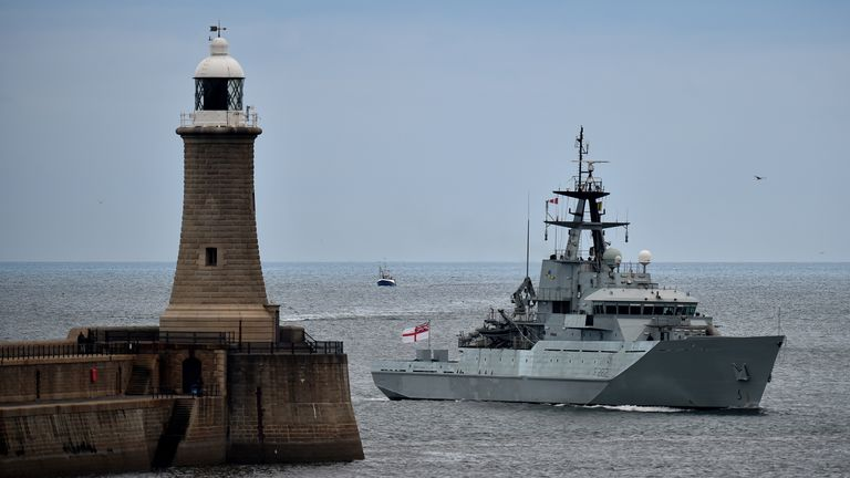 Four Royal Navy boats are on standby