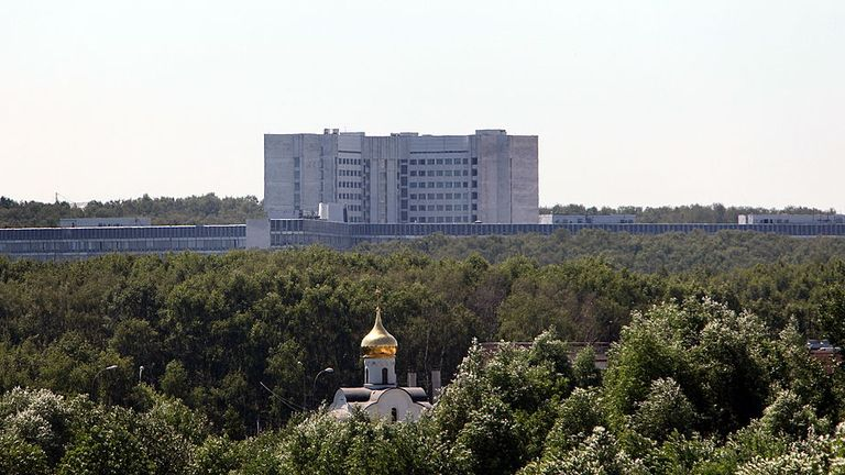 "A general view of the Russian Foreign Intelligence Service (SVR) headquarters outside Moscow taken on June 29, 2010. Russia on June 29 demanded an explanation from the United States over the arrests of an alleged spy ring, which struck at a time of rapidly warming ties between Moscow and Washington. The United States said on June 28 it had cracked open a massive alleged spy ring, announcing the arrest of 10 ""deep-cover"" suspects after unravelling a mission secretly monitored by the FBI for more"