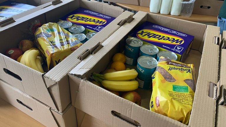 Some of the boxes provided by School Food Matters (Pic: School Food Matters)