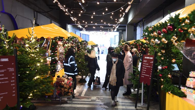 Selfridges in London marked its reopening by launching an open air Christmas market