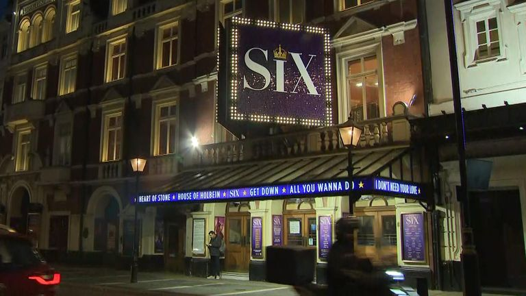 The production of Six at the Lyric Theatre