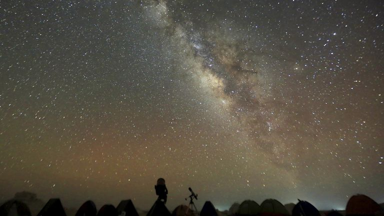 The night sky as seen from Egypt